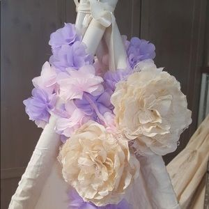 TeePee floral topper (pink:lavender:ivory)
